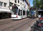 GT 8 C Nr.276 Combino Basic und Nr.287 Combino Advanced in Freiburg am 03.07.2019.