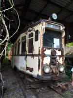 Sehnde bei Hannover/349371/ueberlandwagen-28-der-oeg-baujahr-1928 Überlandwagen 28 der OEG, Baujahr 1928 durch Firma Fuchs erbaut, im Straßenbahnmuseum Wehmingen/Sehnde am 15.06.2014.