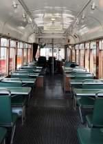 Sehnde bei Hannover/350686/die-innenansicht-des-fahrschulwagen-t-4 Die Innenansicht des Fahrschulwagen T 4 Nr.5103 von Düwag, Baujahr 1955. Dieser war in Neuss und Düsseldorf im Einsatz und befindet sich im Straßenbahnmuseum Sehnde/Wehmingen am 15.06.2014.