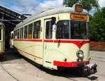 Sehnde bei Hannover/350688/fahrschulwagen-t-4-nr5103-von-duewag Fahrschulwagen T 4 Nr.5103 von Düwag, Baujahr 1955, war in Neuss und Düsseldorf im Einsatz und befindet sich im Straßenbahnmuseum Sehnde/Wehmingen am 15.06.2014. Für dieses Fahrzeug kann man eine Fahrschulrunde buchen.