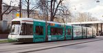 Flexity Outlook CityFlex CF8 Nr.875 von Bombardier, Baujahr 2009,in Augsburg am 29.03.2016.