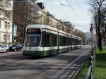 Flexity Outlook CityFlex CF8 Nr.884 von Bombardier, Baujahr 2010,in Augsburg am 29.03.2016.