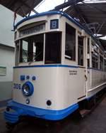 t-2/585856/t-2-nr306-erbaut-von-busch T 2 Nr.306 erbaut von Busch Baujahr 1927 im Strassenbahnmuseum Chemnitz am 18.04.2017.